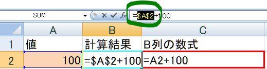 【Excel裏技】F4キーの使い方:参照形式の変更(変更後)