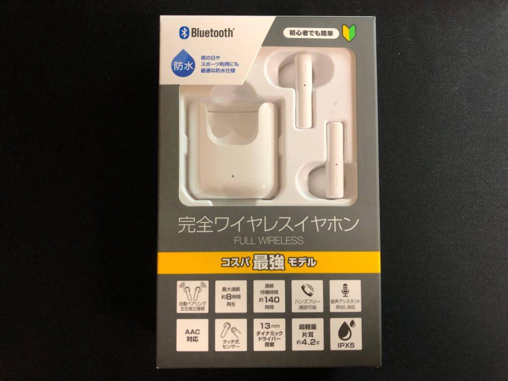 ゲオ1999円完全ワイヤレスイヤホンのパッケージ
